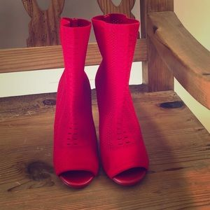 ALDO red sock booties